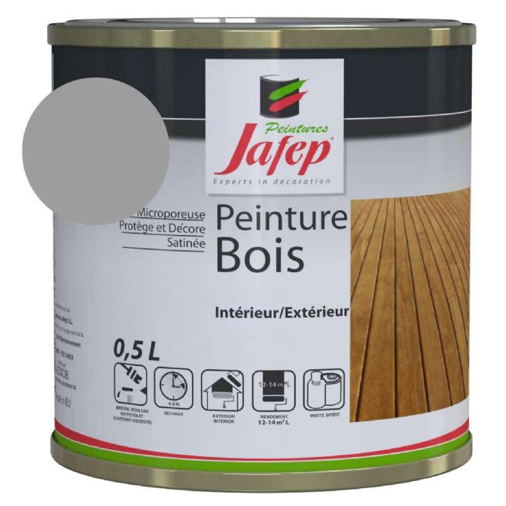 Peinture Bois Gris Souris Jafep 0,5 L