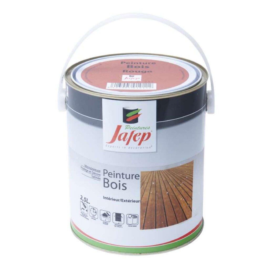 Peinture Bois Rouge Jafep 2,5 L