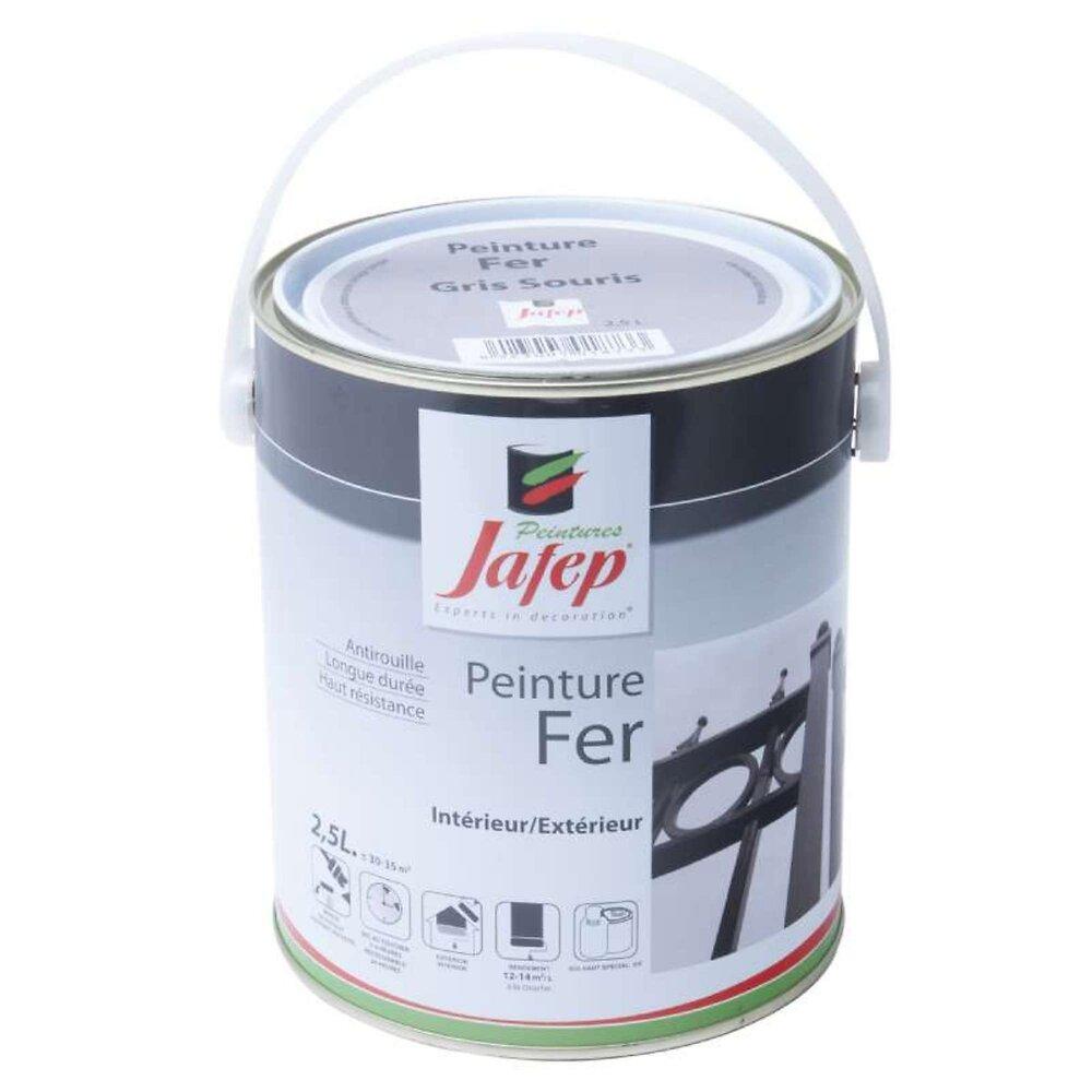 Peinture Fer Antirouille Gris Souris Jafep 2,5 L