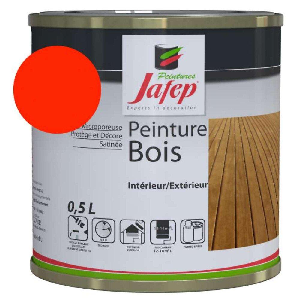 Peinture Bois Rouge Jafep 0,5 L