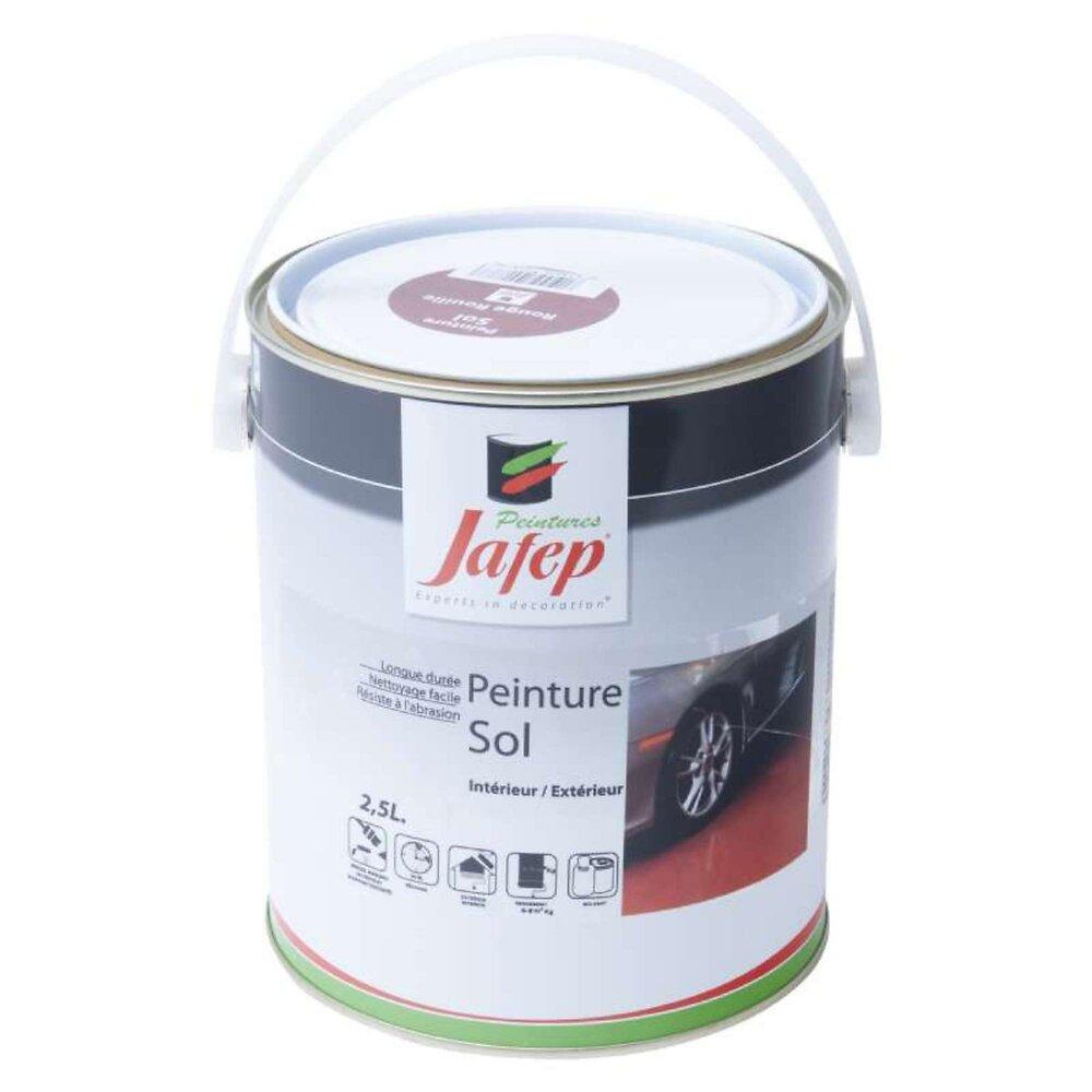 Peinture Sol Rouge Rouille Jafep 2,5 L