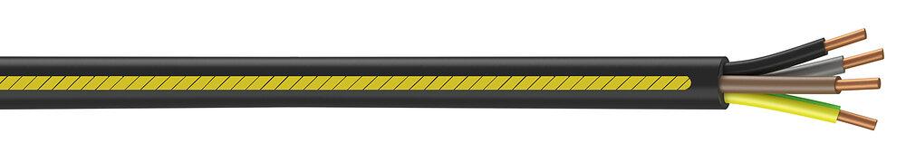 Câble électrique U1000 R2V 4G2,5mm² à la coupe