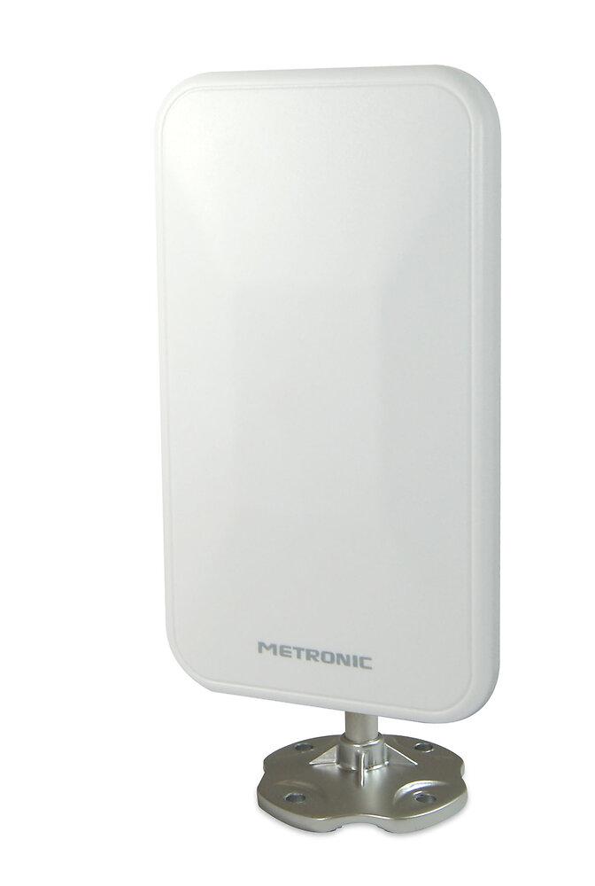 Antenne d'extérieur de proximité extra plate 26dB - blanche