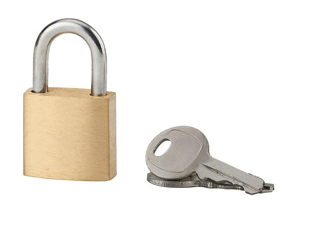 Cadenas laiton 20mm anse acier 2 clés