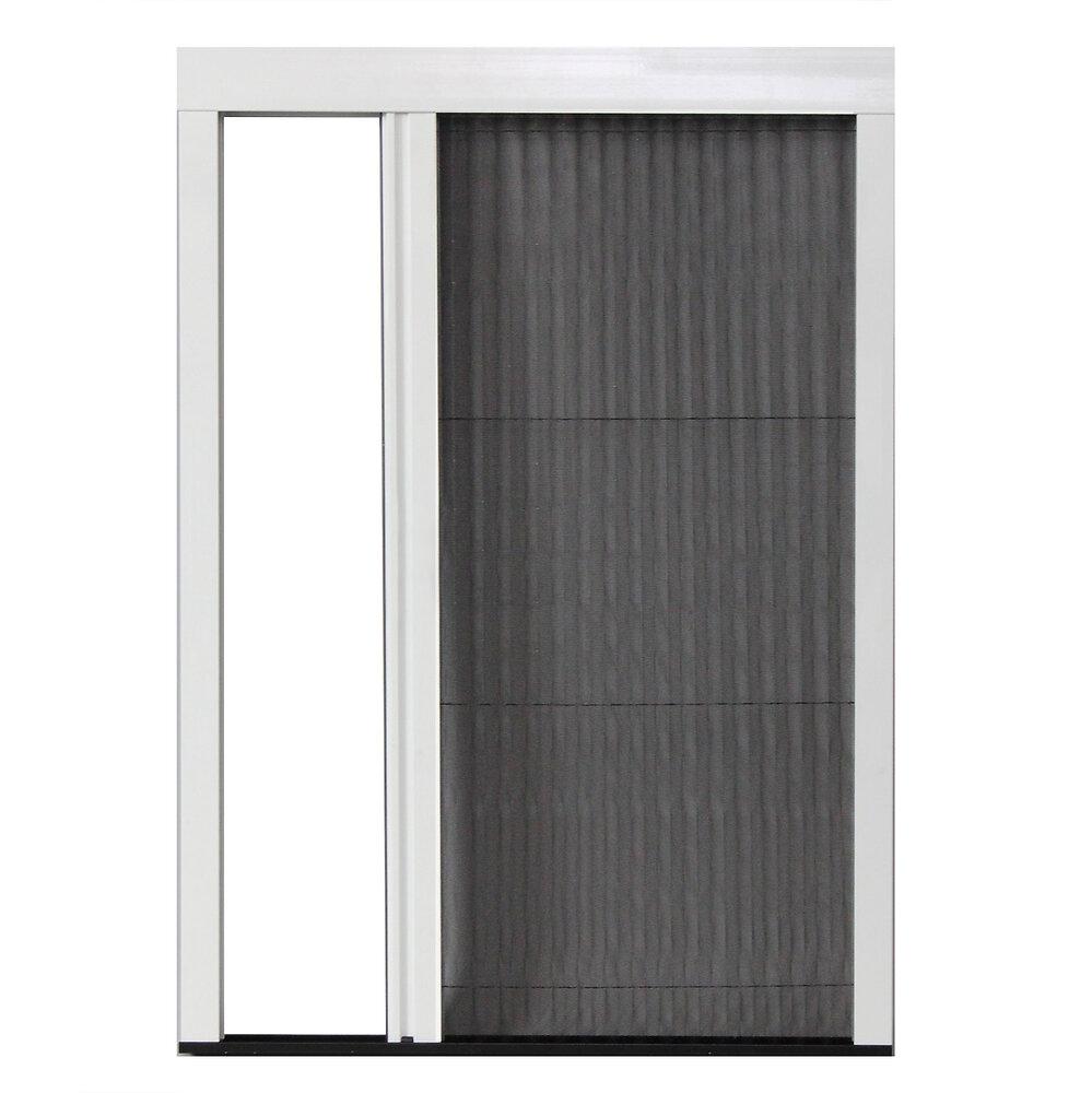Moustiquaire plissée L.140xh.230cm Aluminium blanc