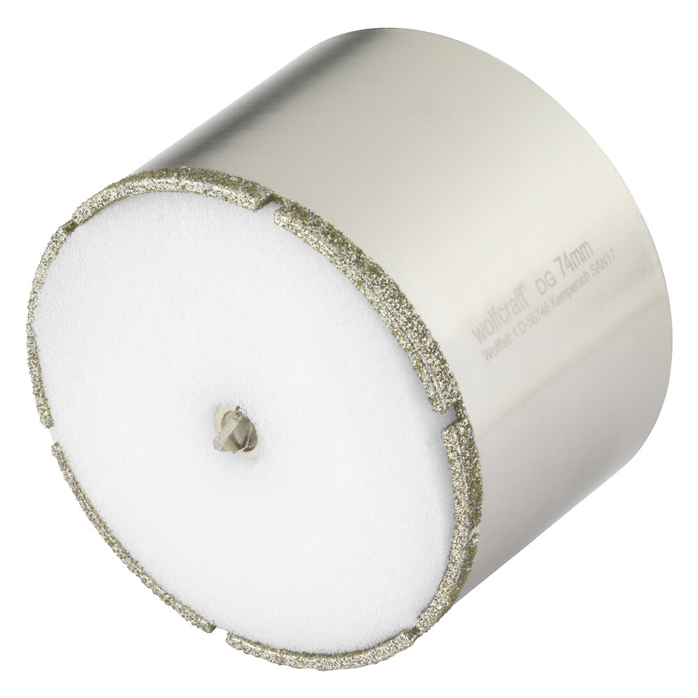 Scie à trépan diamant Ceramic diam. 74mm diamètre queue 10mm