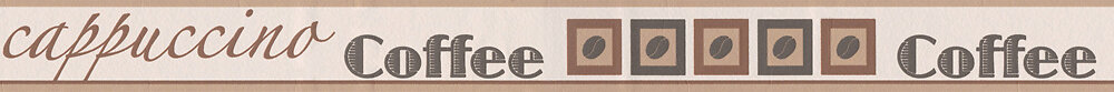 Galon adhésif motif tasse cappucino taupe L.5xl.5m