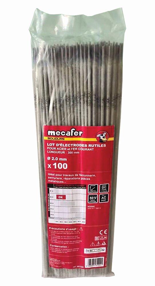 Lot de 100 électrodes acier diamètre 2.0mm