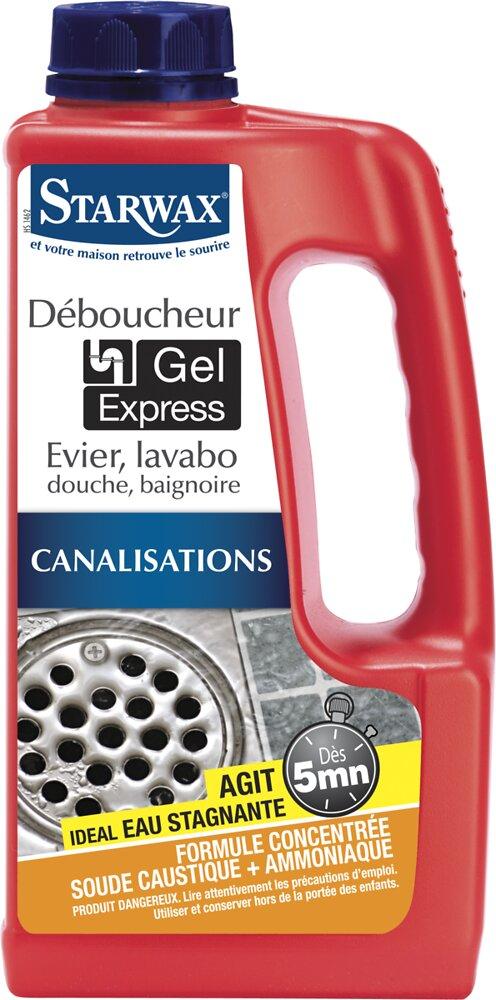 Déboucheur Cuisine-Salle de bains Gel express 5mn 1l