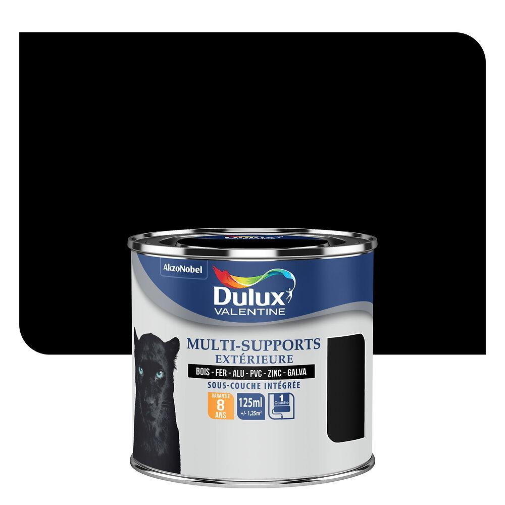 Peinture MULTI-SUPPORTS EXTERIEURE SATIN Noir 0.125L
