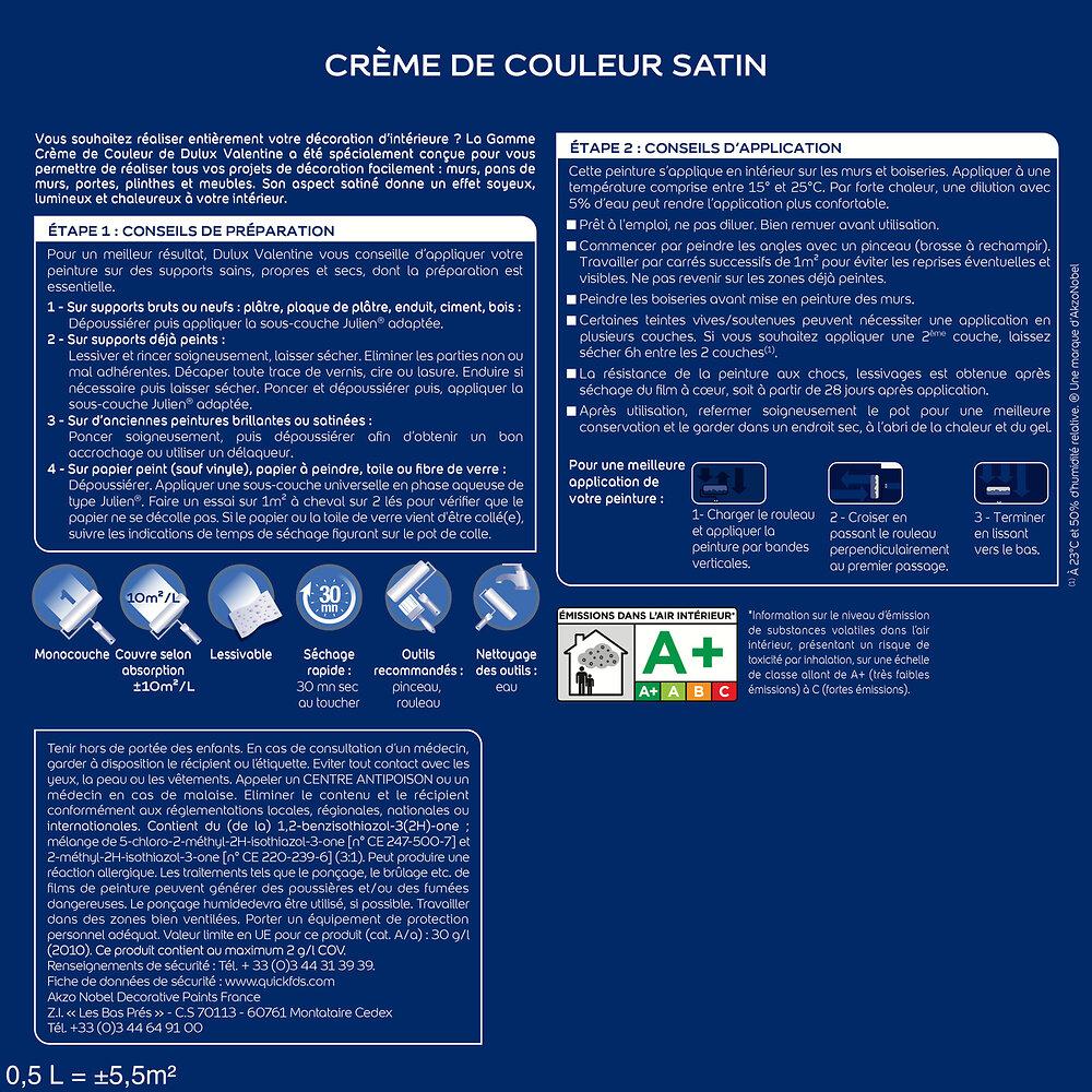 Peinture Crème de couleur MAT Anthracite 2.5L