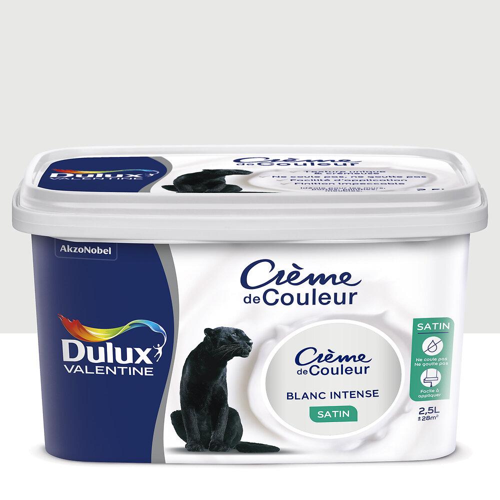 Peinture Crème de couleur SATIN Blanc Intense 2.5L