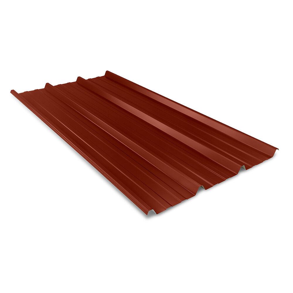 Plaque nervurée rouge 1000 Ep.0.5mm Lg.2500mm