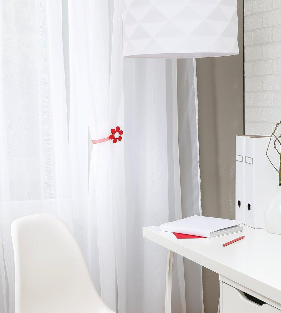 Embrasse à rideaux aimantée Van Lathem Fleur blanc