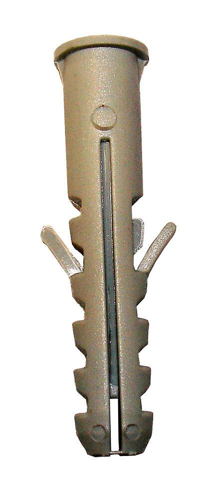 Blister de 30 chevilles nylon collerette 5x25mm