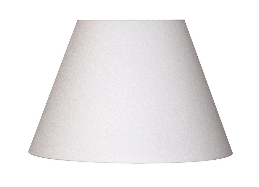 Abat-jour forme conique D22 en coton blanc