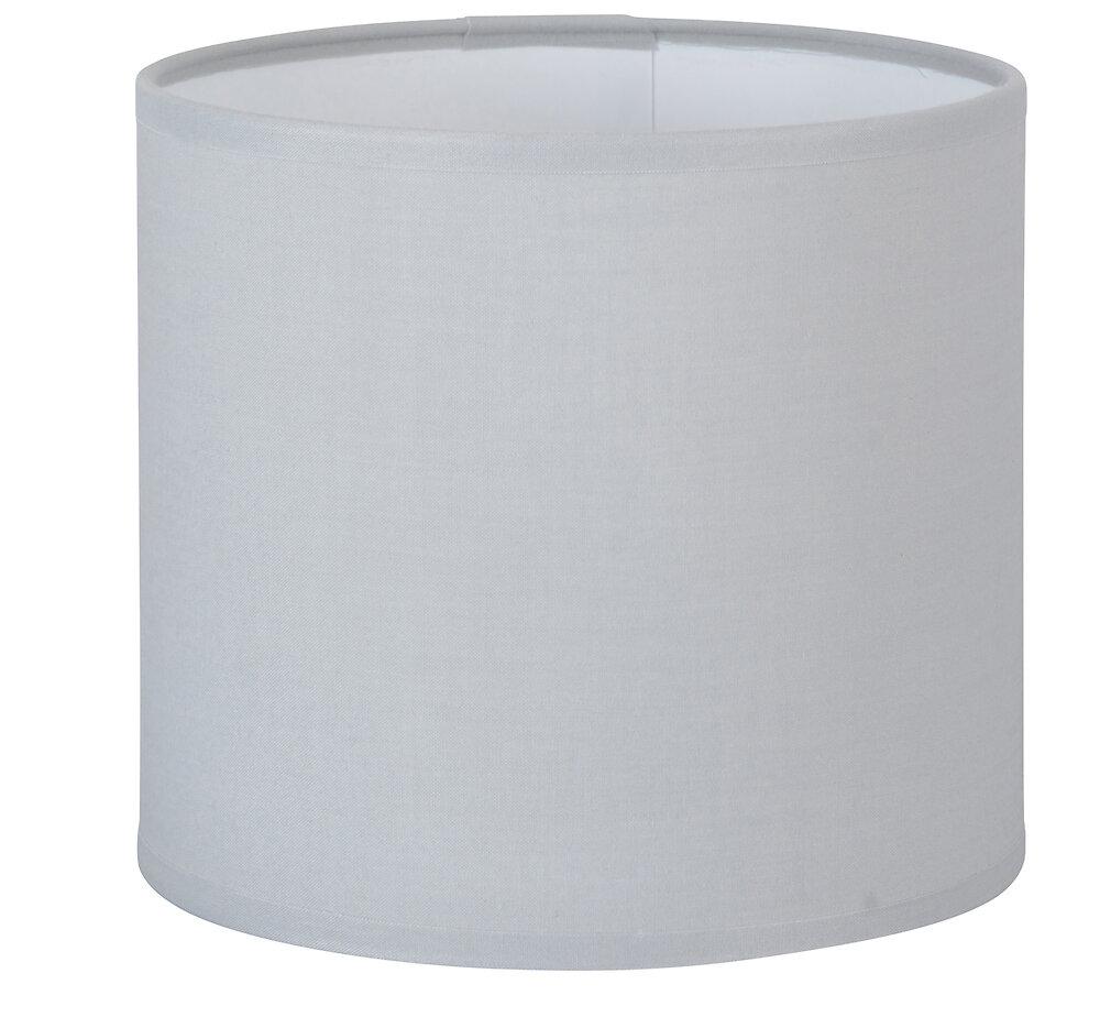 Abat-jour forme cylindre D13 en coton gris tourterelle