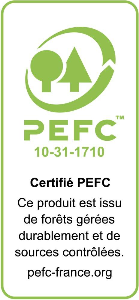 Alèze plan de travail hêtre 14x28 2.40m PEFC 70%