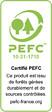 Alèze plan de travail 14x28 pin des landes 2.40m/PEFC 70%