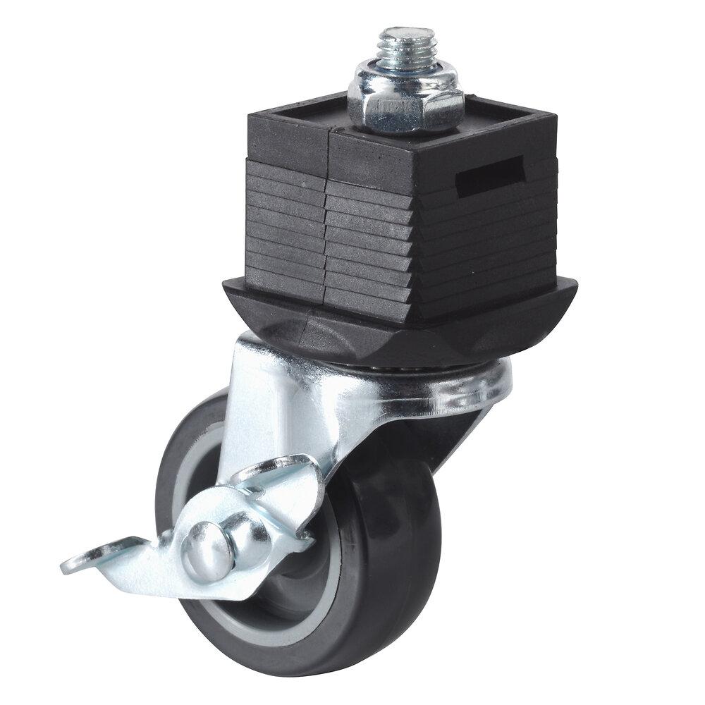 Roulette pivotante avec frein WOLFCRAFT pour établi d'atelier