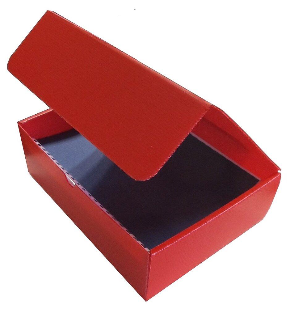 Plaque alvéolaire rouge 500x500x2.5mm