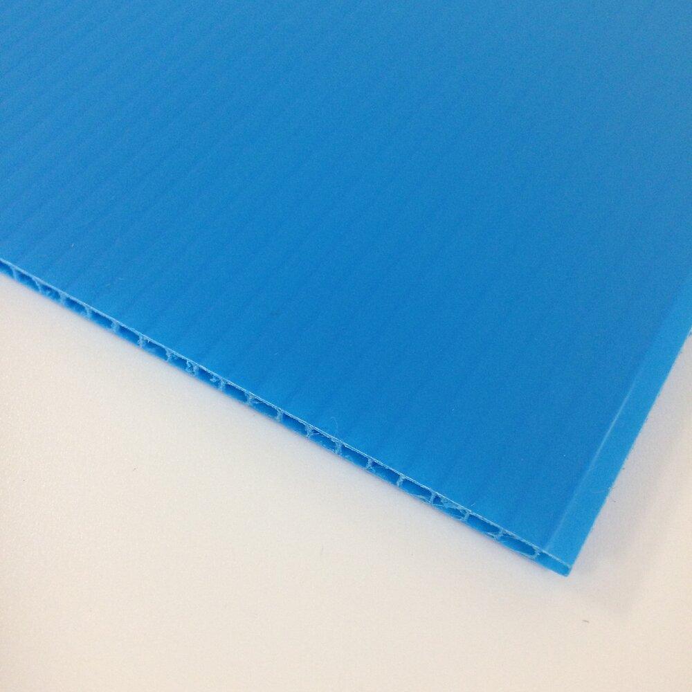 Plaque alvéolaire bleu 1500x500x2.5mm