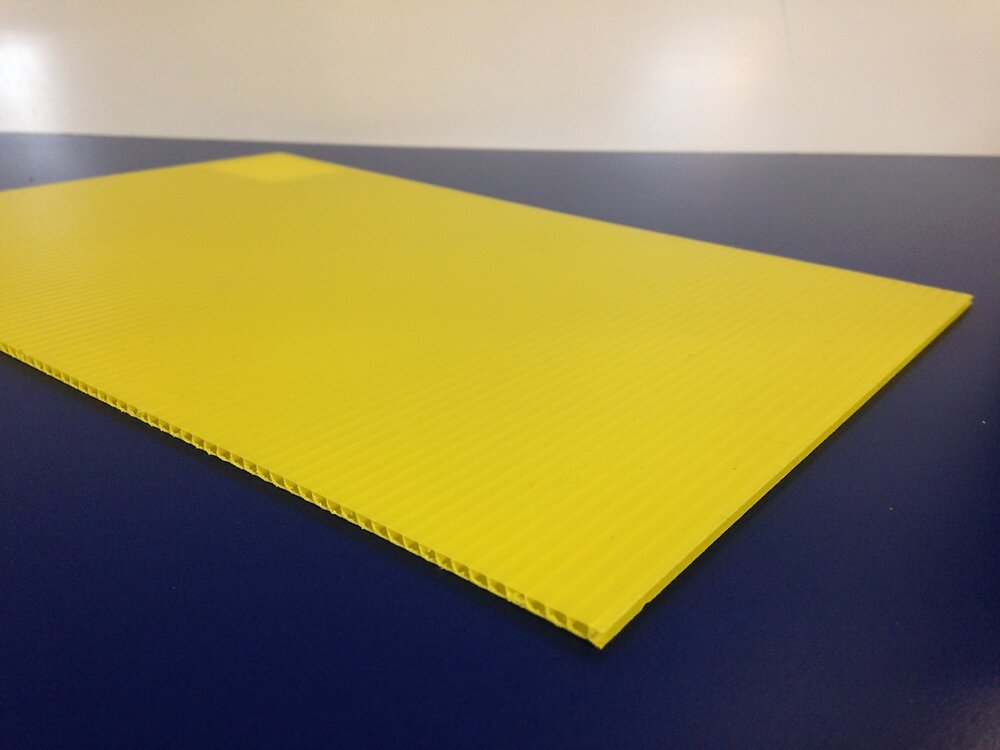 Plaque alvéolaire jaune 1500x500x2.5mm