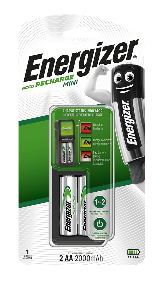 Duo Energizer chargeur + 2 piles HR6 2000 MAH ENERGIZER