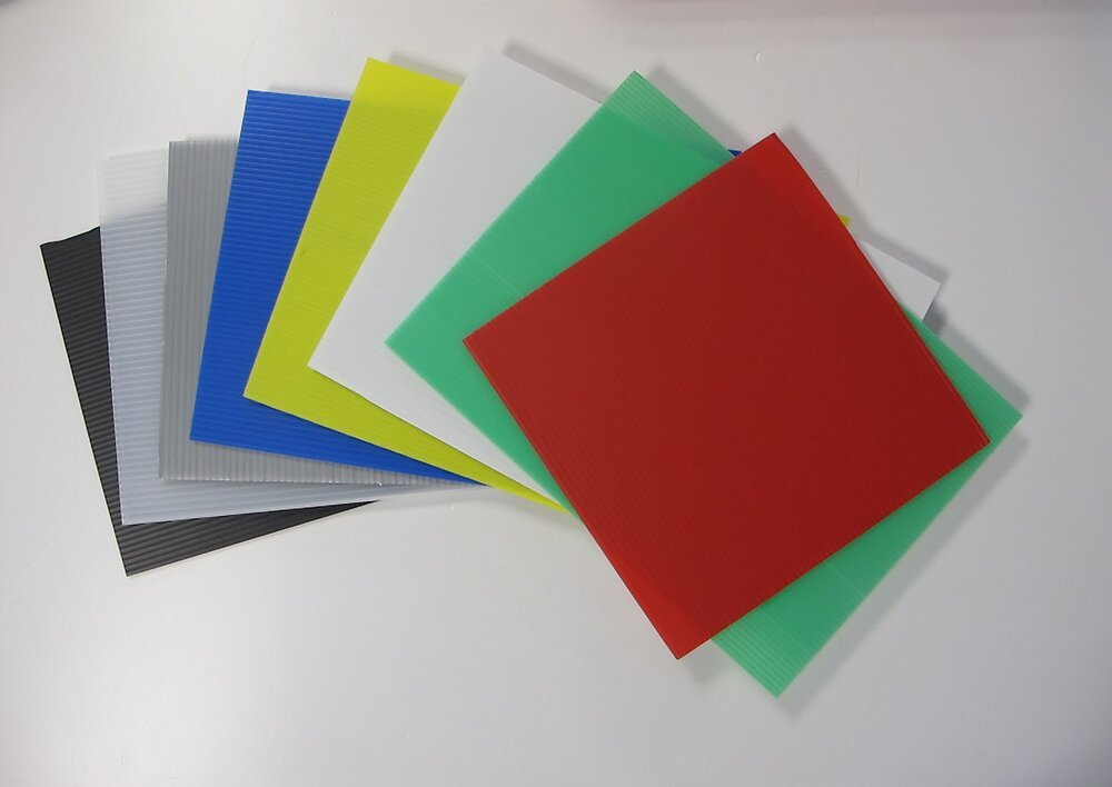 Plaque polypropylène alvéolaire neutre 100x100cm 3.5mm