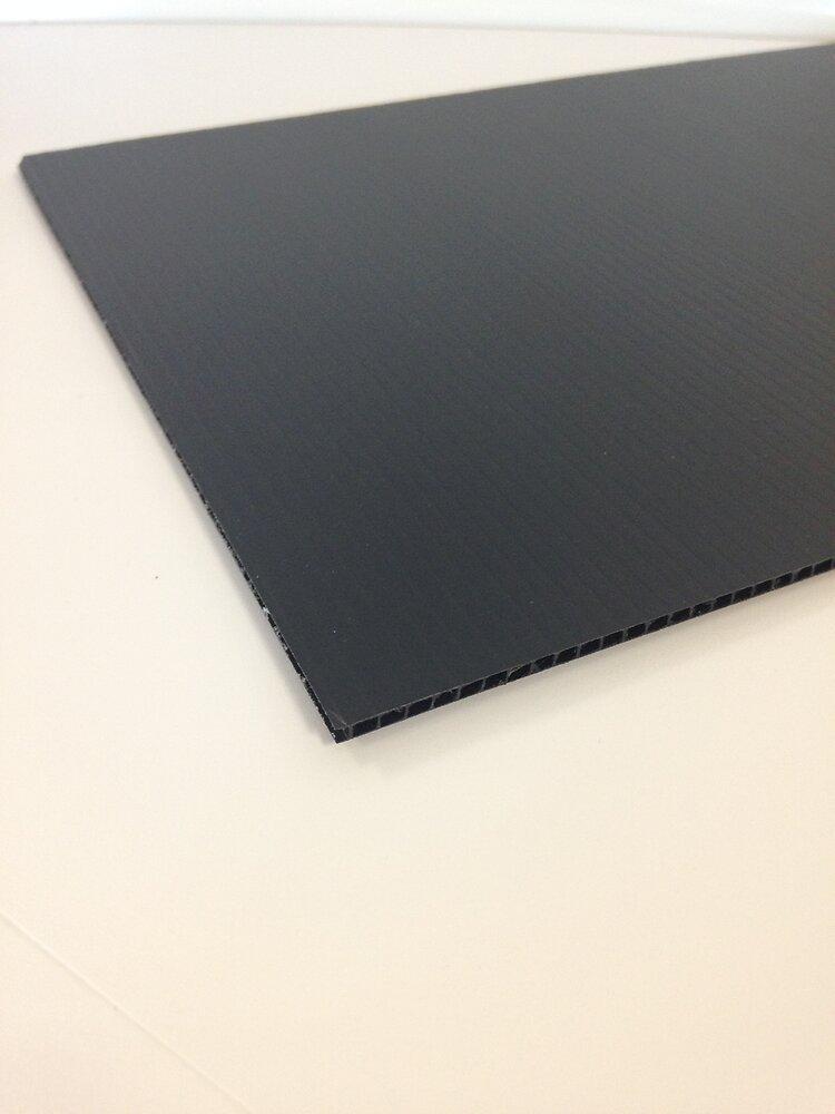 Plaque polypropylène alvéolaire noir 100x100cm 3.5mm