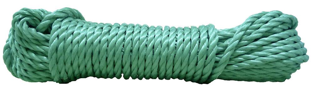 Cordage PP éco coloris vert diamètre 12 mm carotte de 10 m