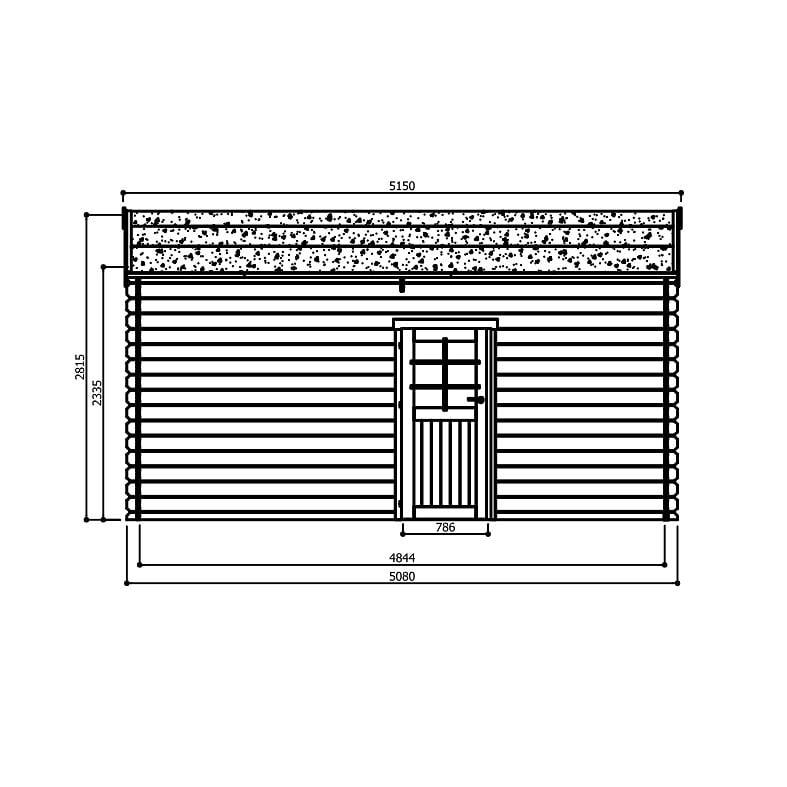 Garage en bois28MM 3538X358 porte sectionnelle