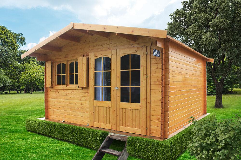 Abri de jardin en bois 40 mm 418 x 388 + 40 cm RIGNITZ