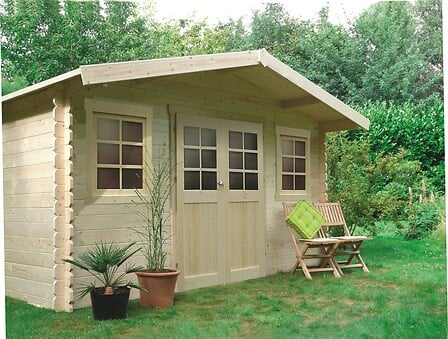 Abri de jardin en bois double porte 10 m² Dole