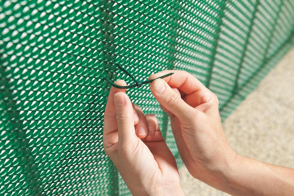 50 colliers fixation vert longueur 14cm