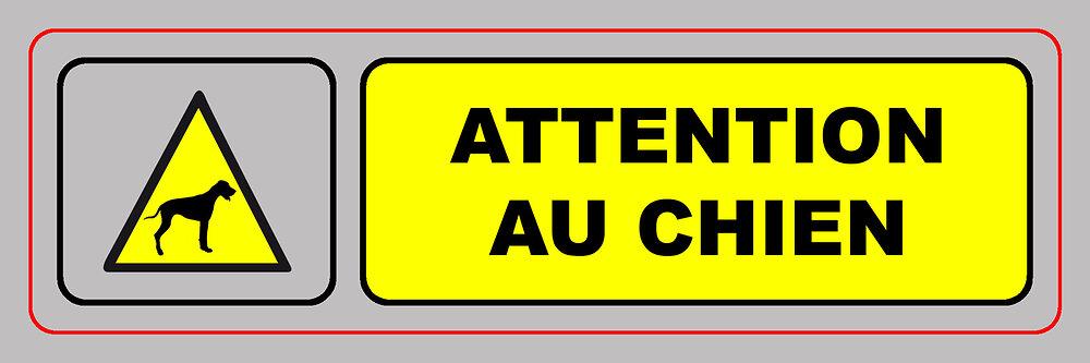 Panneau ATTENTION AU CHIEN 170x50 mm VISO