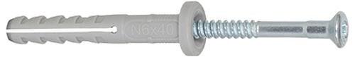 Cheville FISCHER NF à clou nylon 8 mm x 100 mm/60 mm sachet de 100