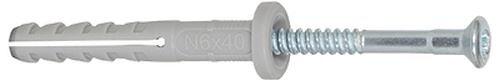Cheville FISCHER NF à clou nylon 6 mm x 80 mm/50 mm boîte de 100
