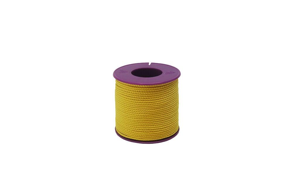 Tresse nylon  jaune fluo diamètre 1.5 mm - 50m VISO