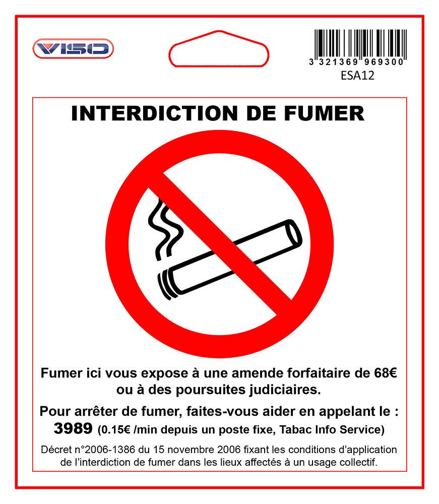 Sticker - INTERDIT DE FUMER