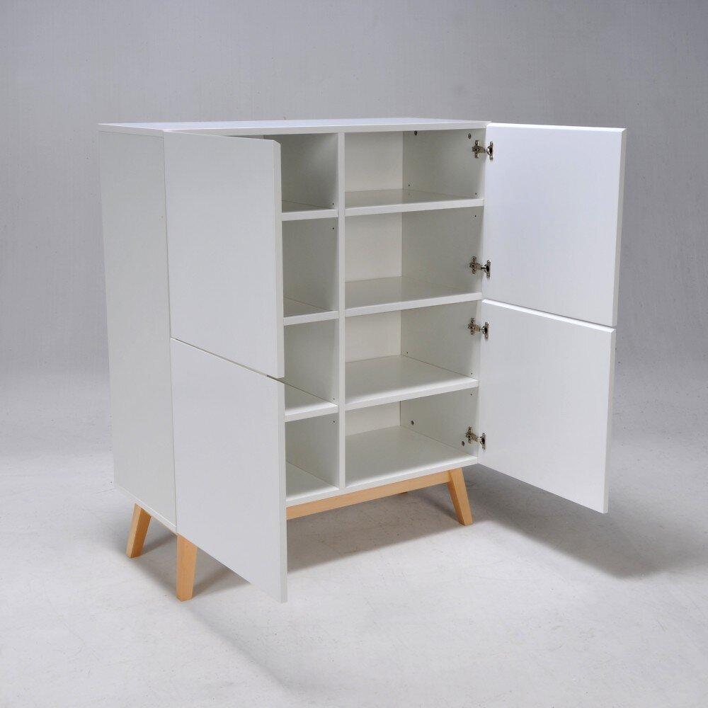 Meuble De Rangement Home 4 Portes / Blanc