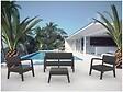 """Salon De Jardin """"set Miami"""" - Graphite"""
