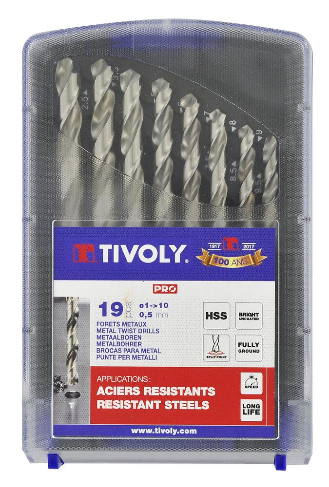Coffret 19 forets acier Technic