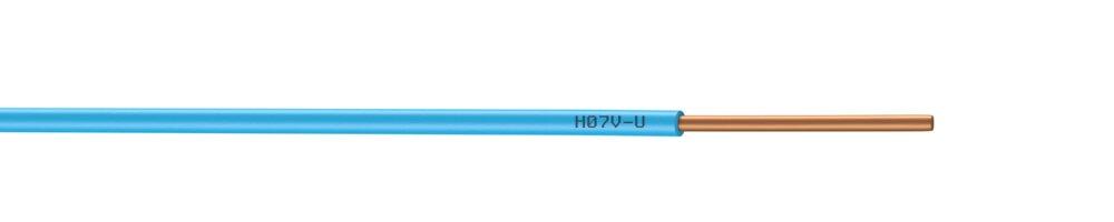 Câble électrique H07VU 2,5mm² bleu 5m