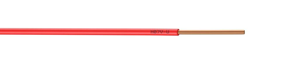 Câble électrique H07VU 2,5mm² rouge 5m