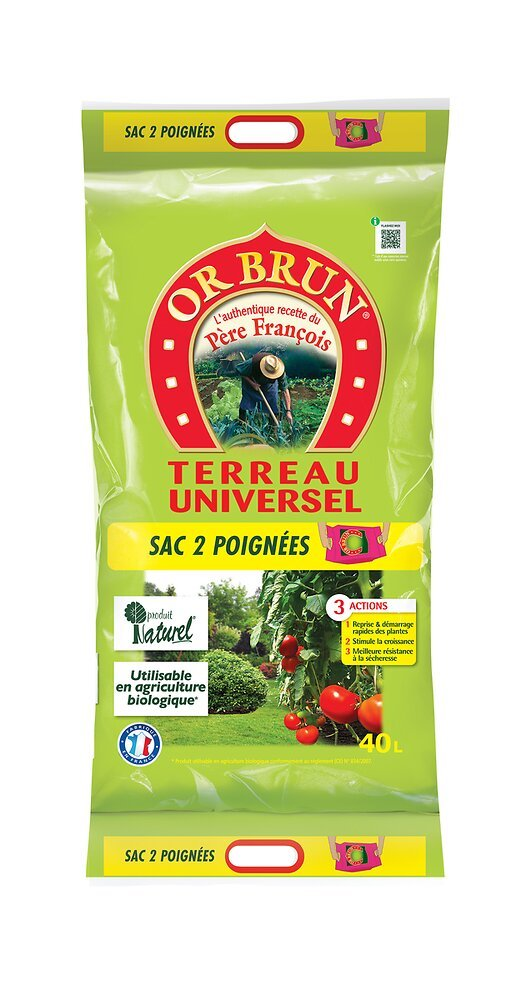 Terreau universel 3 actions 40 L OR BRUN