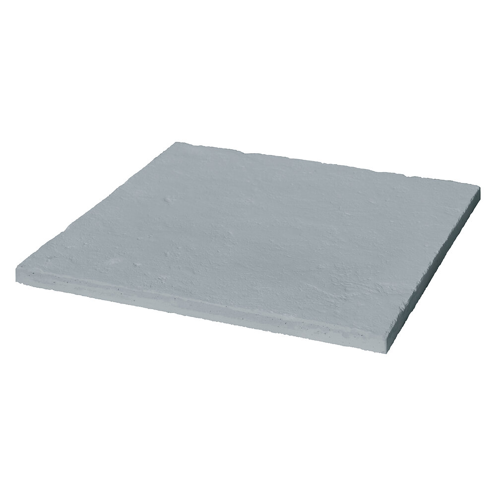 Dalle de terrasse Cévennes 49.5x49.5x2.2cm gris