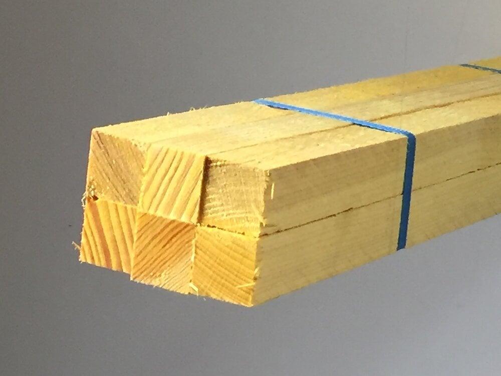 Tasseau sapin brut 27 x 27 mm x long 2,40 m