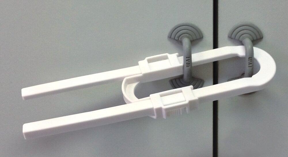 Bloque meuble U en plastique blanc Longueur 210mm hauteur 60mm