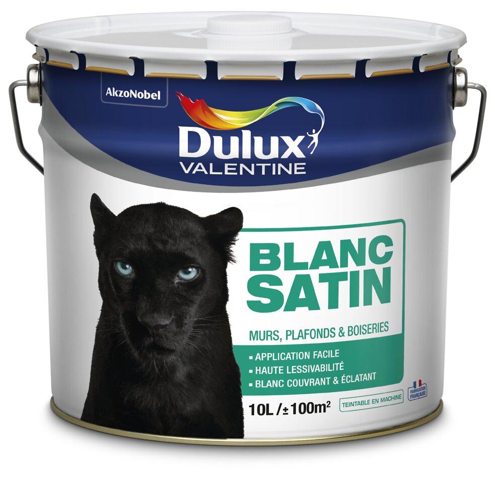 Peinture phase aqueuse DULUX VALENTINE Blanc satin 10L